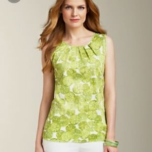 ⚡SALE! Talbots Lime Pleated Tank Top